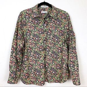 Orvis Wrinkle-Free Floral Button Down Shirt 14